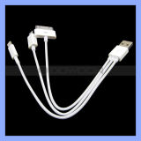 Multifunktions3 in 1 USB Charging Cable für iPhone 5 5s/iPhone 4/4s Samsung S4/HTC