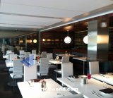 De moderne Eettafel van /Restaurant van de Lijst van de Staaf van Corian van de Hoogste Kwaliteit van de Stijl Tegen