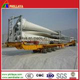 de 45m de la direction 3axles de moulin à vent de lames de transport remorque inférieure extensible de bâti de camion semi