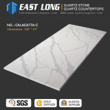 Kitchentopsのための3200*1600mm Calacattaの水晶石のカウンタートップか大理石の静脈(SGS/CE)が付いている設計された石