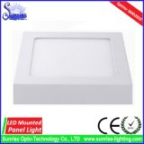 Ww/Nw/Cw eingehangene Oberflächeninstrumententafel-Leuchte des Quadrat-12W LED