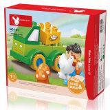Pädagogischer Henne-LKW des Spielzeug-DIY blockt Spielzeug