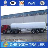 3배 차축 판매를 위한 디젤 엔진 탱크 유조선 트레일러 42000 리터 반 연료 원유