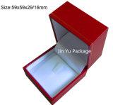Rectángulo de empaquetado de la joyería plástica retra del regalo con insignia de sellado caliente de la hoja de oro