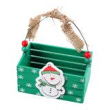 Cesta de madera del caramelo de la Navidad para la decoración de la Navidad y regalo de cumpleaños en existencias