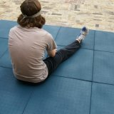 Matting salpicado de bloqueio da borracha da ginástica da aptidão
