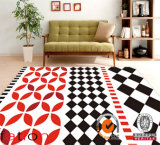 Personnaliser le tapis Shaggy de secteur central d'impression contemporaine des couvertures 3D