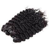 10A 급료 브라질 Virgin 머리 4는 거래 브라질 깊은 파 머리 아름다움 모발 제품 처리되지 않은 브라질 사람의 모발을 묶는다