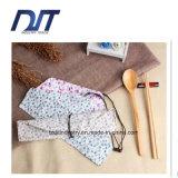 環境に優しい携帯用綿のリネン箸はギフトのためにセットした