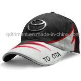 Casquillo del deporte del golf de la tela cruzada del algodón del bordado de la impresión de pantalla (TMB0824)