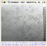 Collants résistants UV de mur du guichet 3D/film statique en verre souillé de guichet givré avec la qualité