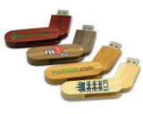 8GB Bamboo Swivel USB Flash Stick