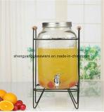 стеклянный опарник каменщика распределителя сока 4L с краном