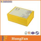 Rectángulo de regalo plegable del papel de la cartulina del plegamiento plegable de encargo
