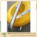Wheelbarrow pneumático da roda da bandeja plástica do jardim Wb6414