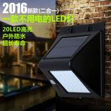 Indicatore luminoso senza fili solare multifunzionale di obbligazione del sensore di movimento dei 20 LED (RS2019)