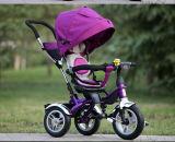يمزح الصين 4 في 1 طفلة درّاجة ثلاثية مع دفع قضيب [ببي سترولّر] [برم] [س]