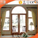 백색 단단한 오크재 입히는 알루미늄 합금 만 & 활모양의 퇴창, 주문을 받아서 만들어진 크기 목제 입히는 알루미늄 여닫이 창 Windows