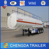 Tri essieu 45000 litres de camion-citerne de remorque en aluminium semi avec la suspension de sac d'air