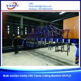 Металл работая сверхмощная машина кислородной резки плазмы CNC Gantry с kr-PLD вырезывания 9 факелов пламени прямым