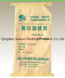 Gelber Papier-Plastikmittel-Beutel
