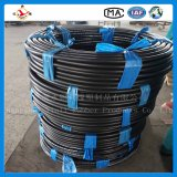 """Boyau hydraulique en caoutchouc développé en spirales flexible d'En856 4sh 1-1/2 """" 38mm"""