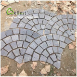 St-018 Black Slate Fan Shape Paving Stone per Landscaping