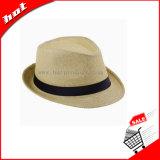 Chapéu de papel tecido chapéu de Sun do chapéu do papel do chapéu do Fedora do chapéu de palha