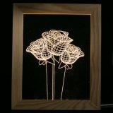 Arreglo para requisitos particulares - marco de madera de la luz LED de la noche de la ilusión de la decoración 3D de la lámpara de vector del escritorio del LED