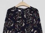 Платье повелительниц типа оптового дешевого полиэфира длиннее с картиной завода