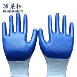 De in het groot Handschoen van het Werk van de Veiligheid van de Polyester van 13 Maat met Met een laag bedekt Nitril