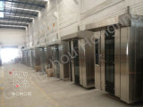 Forno giratório Diesel comercial da cremalheira para a máquina do cozimento do pão