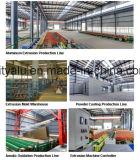 perfil 6063t5 de alumínio industrial anodizado de prata para a cadeia de fabricação