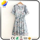 方法印刷の綿および整形ウエストのワイシャツの服の服