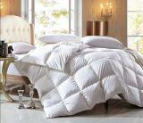 100%年の綿233tファブリック300GSMホテルの白いアヒルの羽毛布団