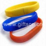 Вспышка выдвиженческого изготовленный на заказ USB вспышки/Wristband USB браслета (WD13)