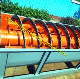 Classificador espiral de secagem da arruela da areia do sistema do minério de ferro do ouro