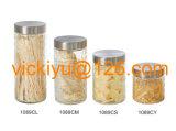 опарник хранения еды 500ml~2L стеклянный с крышкой металла