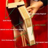 Porte coupe-feu en bois de double peinture (M-WF005)