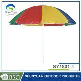바람 경사 (SY1801-T)를 가진 저항하는 옥외 광고 밀짚 비치 파라솔