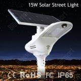 Alta qualità 15W tutto in un indicatore luminoso di via solare del LED