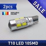 luz sin error Glowtec del coche de 2PCS T10 10SMD Canbus 5630 SMD 194 W5w LED