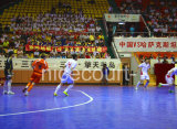 Het met elkaar verbinden schortte de Modulaire Bevloering van het Voetbal van de Bevloering Futsal (op Gouden Zilveren Brons Futsal-)