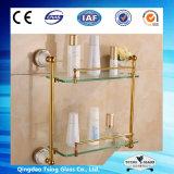 étagère verre-verre claire/givrée de 10mm d'étagère Tempered pour Showeroom/coin de mur