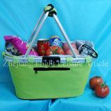 Cestino piegante di picnic di acquisto di Ensulated con la maniglia di alluminio pieghevole
