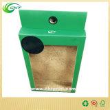 Коробка верхней части клетки Hang бумажная упаковывая для мешков молока гайки с ясным окном PVC (CKT-CB-400)