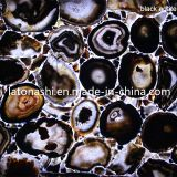 Black poco costoso Agate Gemstone Marble Glass Mosaic per Interior Decoration