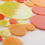 カスタム映像のオレンジおよび赤く黄色いガラスモザイク・タイルシート