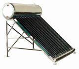 EN12976コンパクトな真空管の銅のコイルの太陽給湯装置
