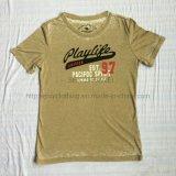 Vestiti di lavaggio di Burnout di estate in maglietta Fw-8679 dei lavori o indumenti a maglia di sport dell'uomo